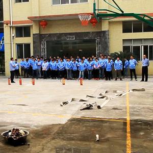 广州博深皮具加工厂消防演习