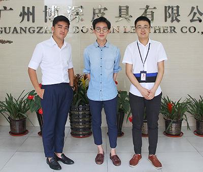 新加坡客户来访博深皮具