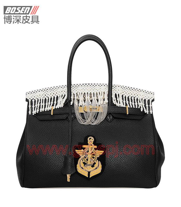 真皮女包 女士手袋 广州皮具厂 女包加工厂 真皮手袋 BSWH002012