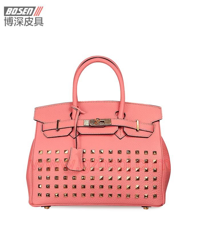 真皮女包|女士手袋|广州皮具厂|女包加工厂|真皮手袋 BSWH002010