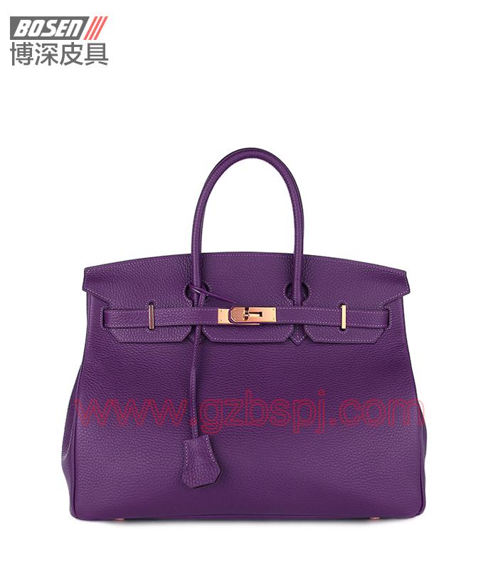 真皮女包|女士手袋|广州皮具厂|女包加工厂|真皮手袋 BSWH002004