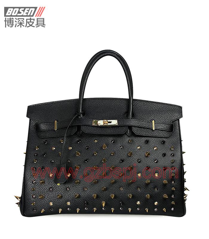 真皮女包|女士手袋|广州皮具厂|女包加工厂|真皮手袋 BSWH002014