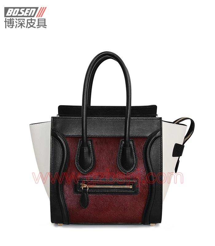 真皮女包|女士手袋|广州皮具厂|女包加工厂|真皮手袋 BSWH003001