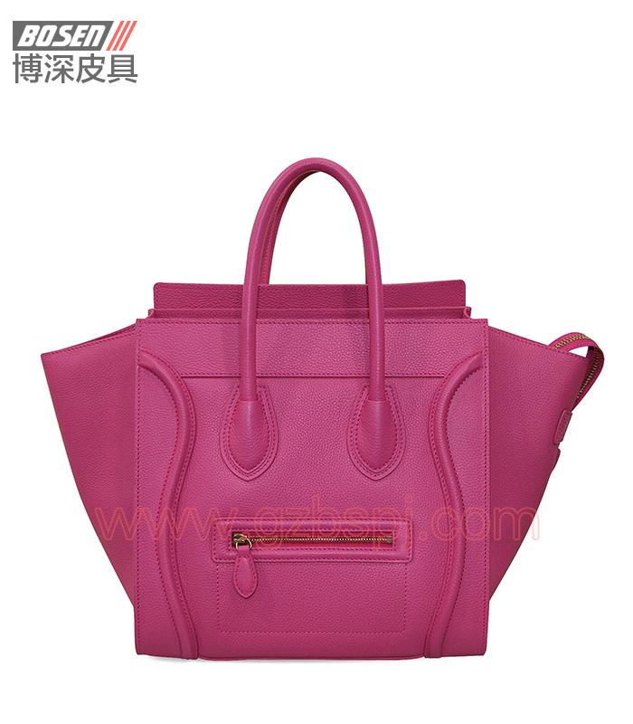 真皮女包 女士手袋 广州皮具厂 女包加工厂 真皮手袋 BSWH003004