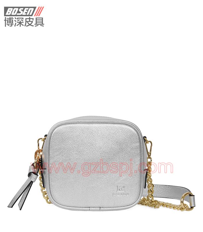 女斜挎包 女包OEM 真皮单肩包 头层牛皮 广州皮具厂 BSWS006001
