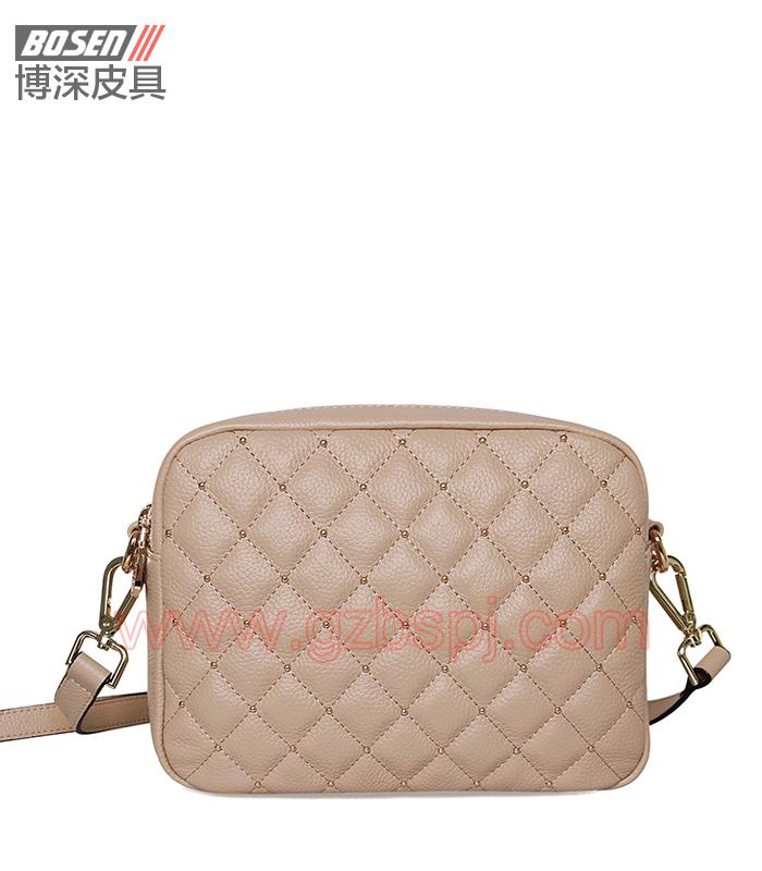 女斜挎包|女包OEM|真皮单肩包|头层牛皮|广州皮具厂 BSWS008002