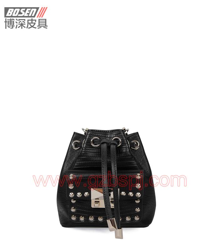 女斜挎包 女包OEM 真皮单肩包 头层牛皮 广州皮具厂 BSWS014001