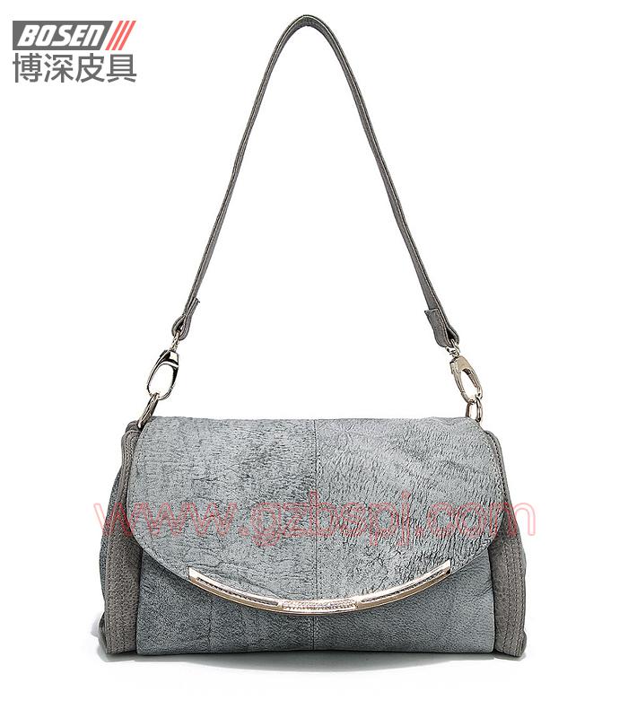 女斜挎包|女包OEM|真皮单肩包|头层牛皮|广州皮具厂 BSWS016001