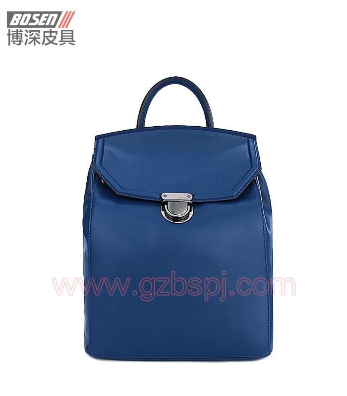 女包工厂|女包加工|广州女包厂|蓝色二皮女士背囊 BSWB001002