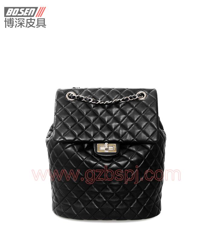女双肩包|女包OEM|真皮背包|头层牛皮|广州皮具厂 BSWB003002