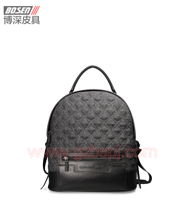 女双肩包|女包OEM|真皮背包|头层牛皮|广州皮具厂 BSWB004002