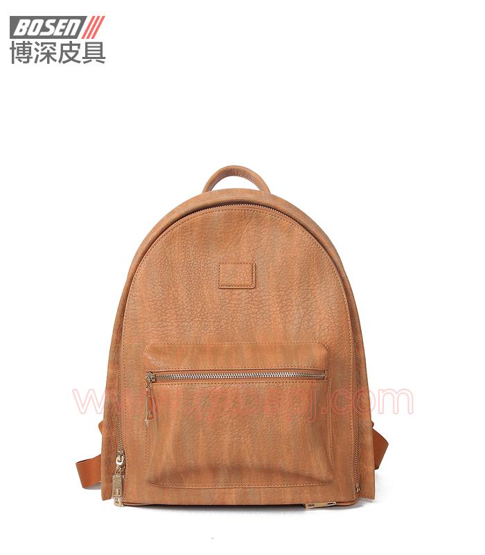 女双肩包|女包OEM|真皮背包|头层牛皮|广州皮具厂 BSWB005001