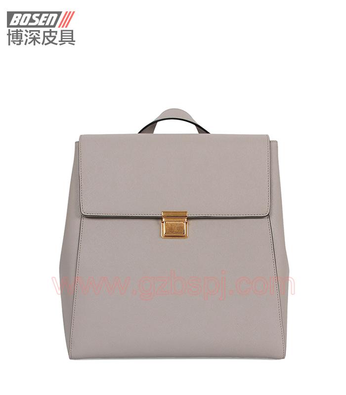 女双肩包 女包OEM 真皮背包 头层牛皮 广州皮具厂 BSWB007001