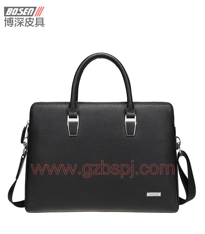 深圳皮具加工厂2016时尚公文包真皮手袋 BSMB012001