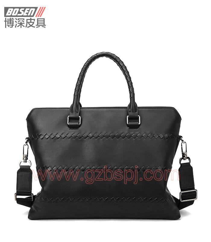 广州男包厂热销品牌包袋男士牛皮公文包 BSMB002001