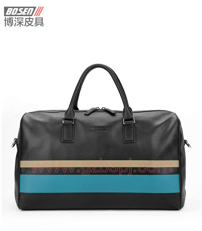 广州皮包厂热卖男士手提包真皮旅行包行李袋 BSMB019003