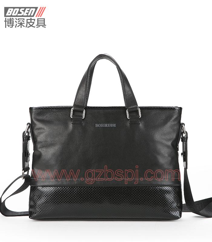 真皮男包|商务公文包|广州皮具厂|男包加工厂|真皮手袋 BSMB010001
