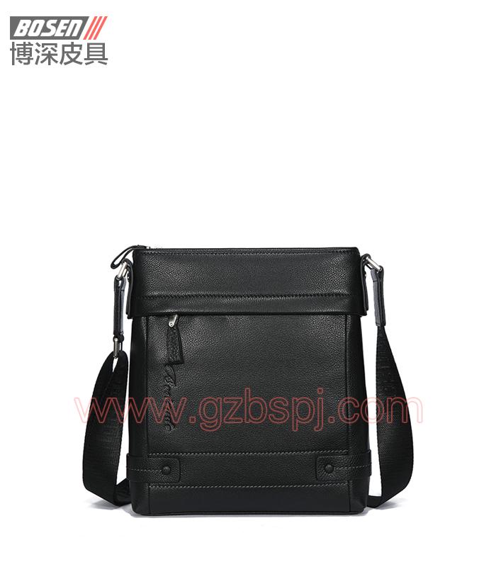 广州手袋厂真皮邮差包男包单肩包男士 BSMS008001