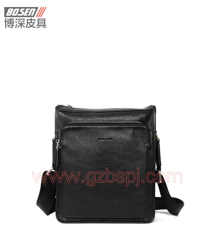 皮包加工厂新款优质牛皮公文包男士手提单肩包 BSMS003001