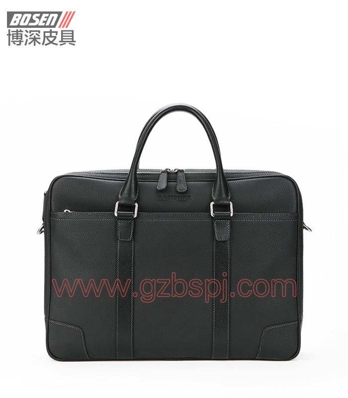 深圳皮具厂真皮公文包电脑包 BSMB022001