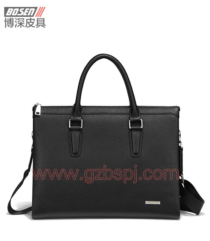 真皮男包|商务公文包|广州皮具厂|男包加工厂|真皮手袋 BSMB024001