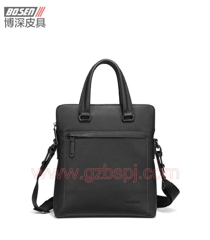 真皮男包|商务公文包|广州皮具厂|男包加工厂|真皮手袋 BSMB023002