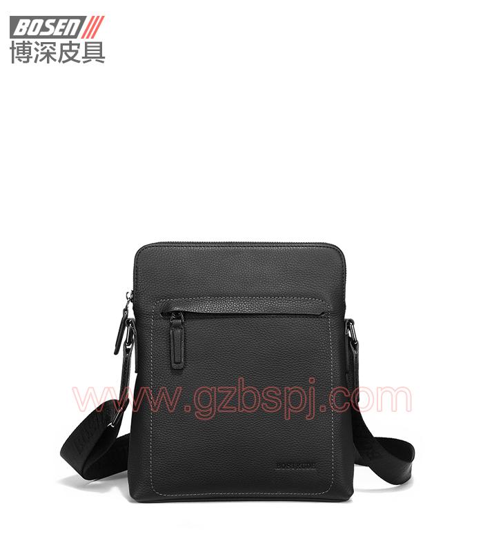 真皮男包|商务公文包|广州皮具厂|男包加工厂|真皮手袋 BSMS013001
