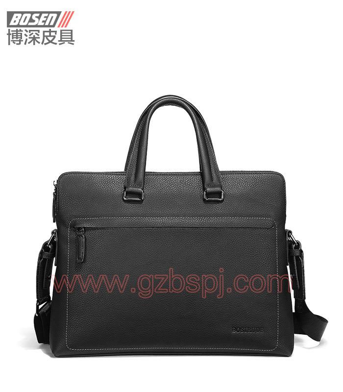 真皮男包 商务公文包 广州皮具厂 男包加工厂 真皮手袋 BSMB025001