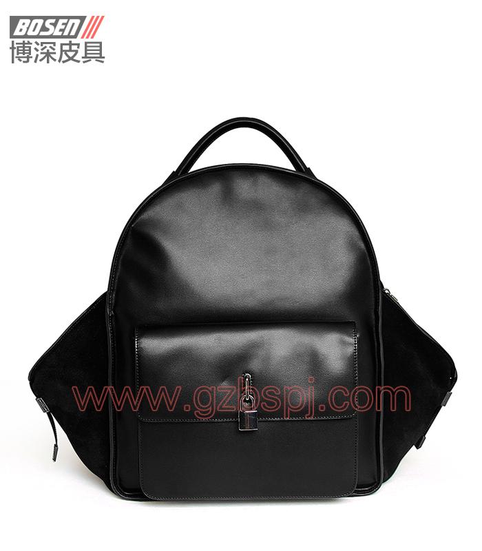 广州男包厂|皮包加工厂|博深皮具|高端真皮男士背包 BSBP002001