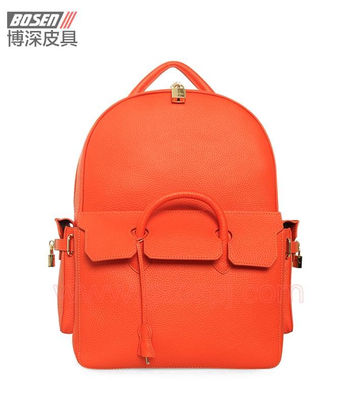 广州男包厂|皮包加工厂|博深皮具|高端真皮男士背包 BSBP003002