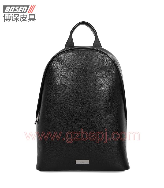 广州男包厂|皮包加工厂|博深皮具|高端真皮男士背包 BSBP007001