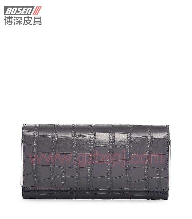 广州皮具厂 皮具加工厂 OEM 拉链包 钱包 BSLW005001