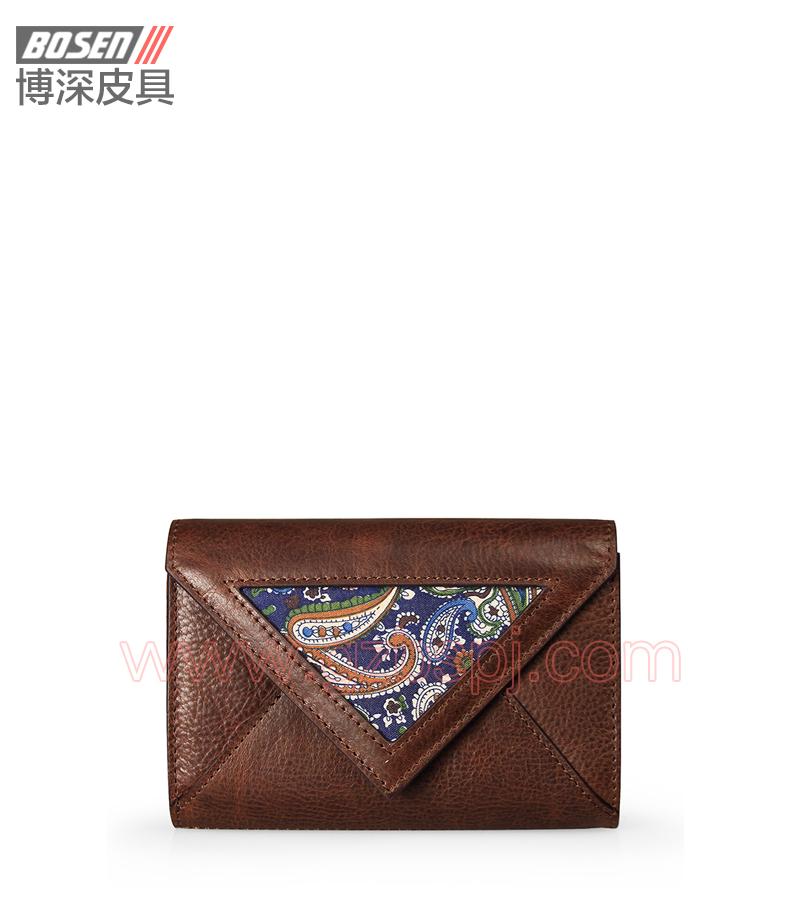 广州皮具厂 皮具加工厂 OEM 拉链包 钱包 BSLW010001
