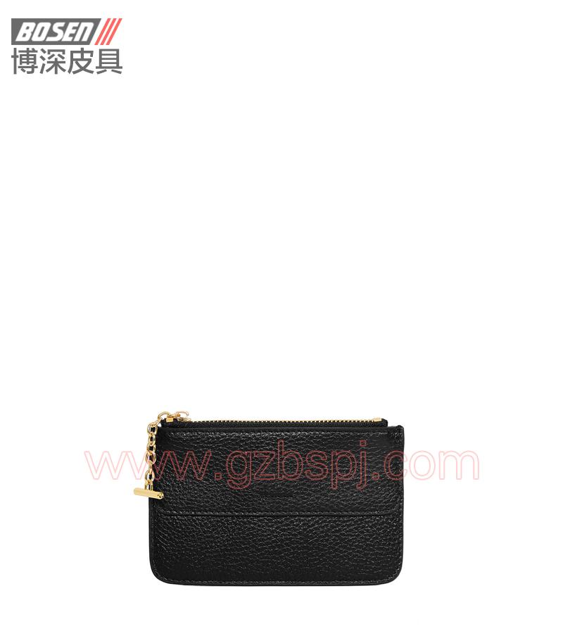 广州皮具厂 皮具加工厂 OEM 拉链包 钱包 BSLW012001