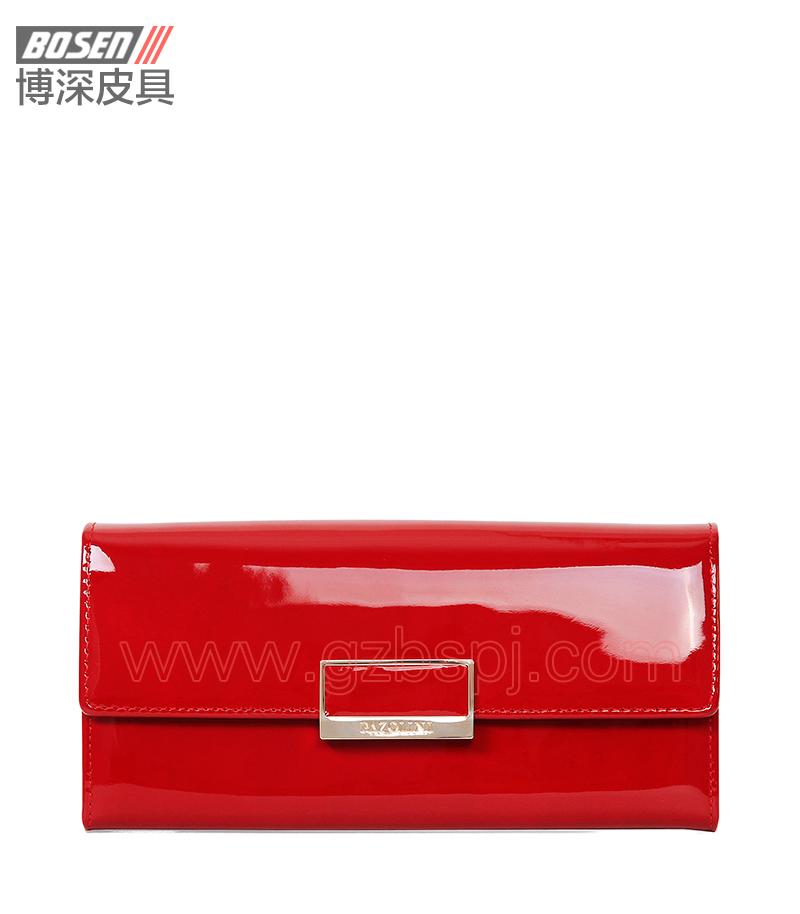 广州皮具厂 皮具加工厂 OEM 拉链包 钱包 BSLW013001