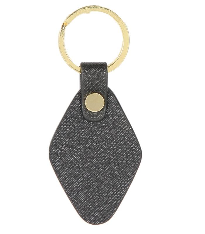 菱形真皮钥匙扣