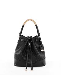 女包加工厂|女包OEM|女包加工|女包定制|黑色女士单肩包桶包 BSWH027001