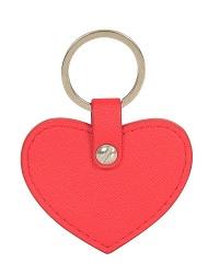 心形真皮钥匙扣